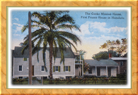 mission house museum postcard honolulu