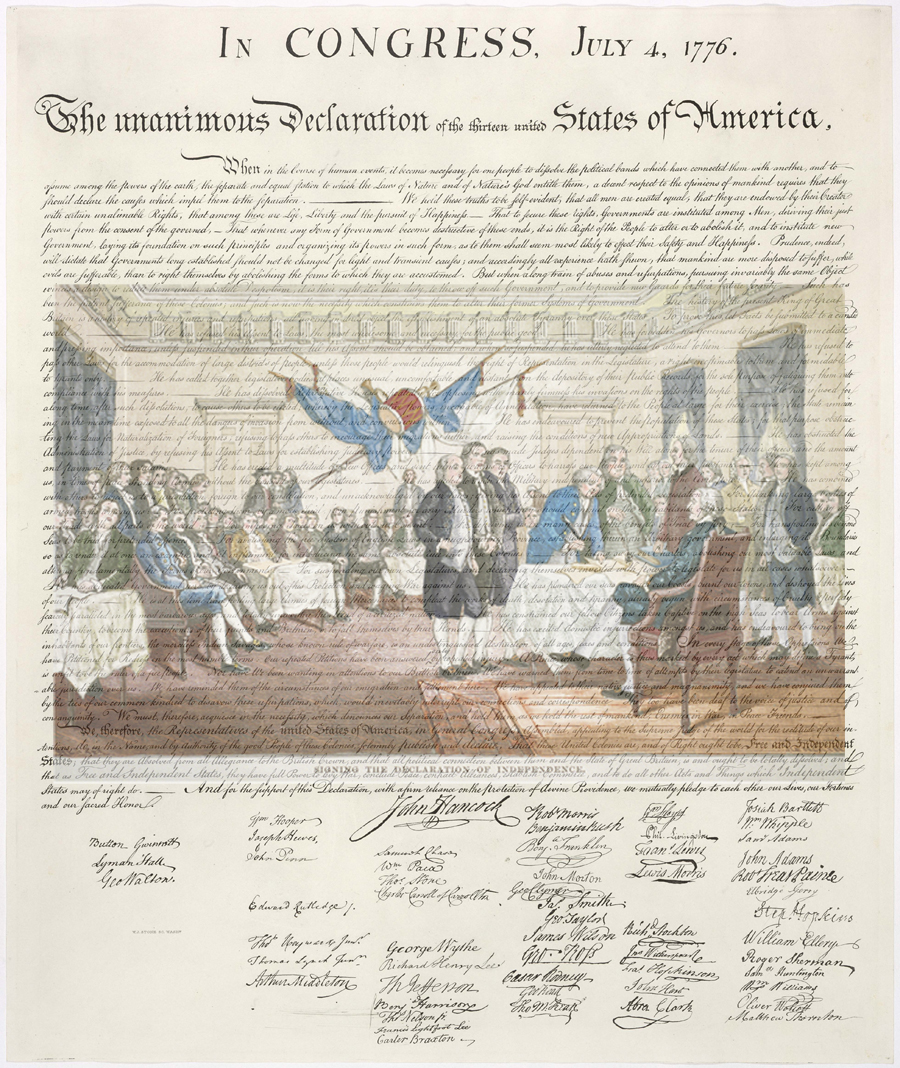 The The US declaration of Independence